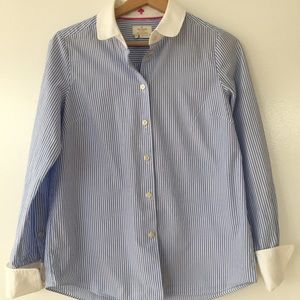 White and blue stripped shirt Kate Spade with bow